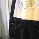 costume de mariage de la fille Le Rouzig (années 1920) (détail de la jupe)